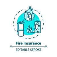 Fire insurance concept icon vector