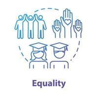 Equality concept icon vector