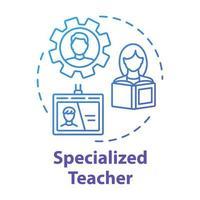 Specialized teacher concept icon vector