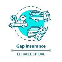 Gap insurance concept icon vector