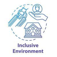 Inclusive environment concept icon vector