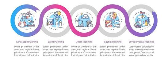 Region building vector infographic template