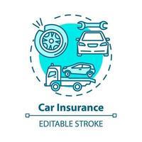 Car insurance concept icon vector