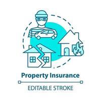 Property insurance concept icon vector
