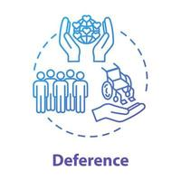 Deference concept icon vector