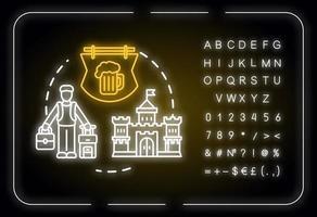 Choose small cities neon light concept icon vector
