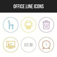 Beautiful Office icons for personal and commercial use. vector