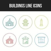 6 Business icons for personal and commercial use vector
