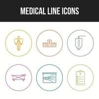 Medical icons pack for personal and commercial use. vector