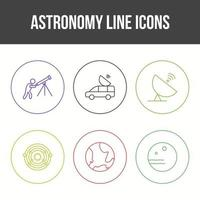 Unique Astronomy Line Vector Icon Set