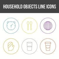 Unique Household Objects Vector Icon Set