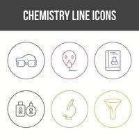 Unique Chemistry Line Vector Icon Set