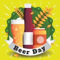 Beer Day Background Template vector