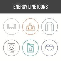 Beautiful Unique Energy Vector Icon Set