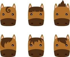 Illustration horse icon vector