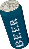 Beer can with inscription mock up vector