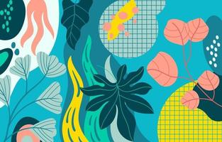 Colorful Unique Fauna Abstract Background vector