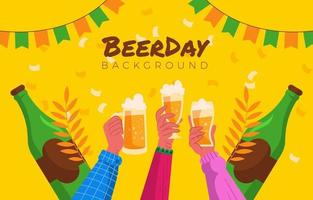 Toast Your Drinks With Friends on Beer Day vector