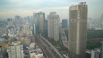 Tokyo city skyline in Japan video