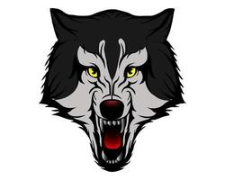 wolf head illustration for icon and logo vector