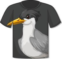 Front of t-shirt with bird template vector