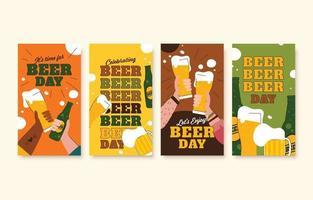 Beer Day Social Media Story vector