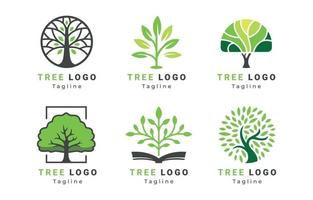 colección de logotipos de árboles vector
