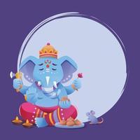 Ganesha Chaturthi Background Template vector