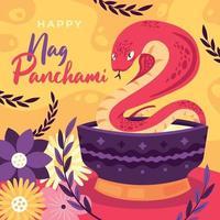 Nag Panchami Indian Celebration vector