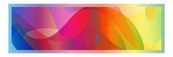 Rectangle frame on Colorful abstract vector