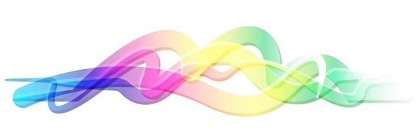 Colorful abstract Gradient line vector