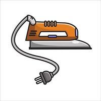 ironing orange illustration vector