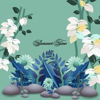 beautiful branches of leaf design vector
