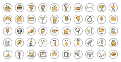 Collection of icons on various topics - Vector