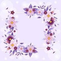 fondo hermoso flor floreciente vector
