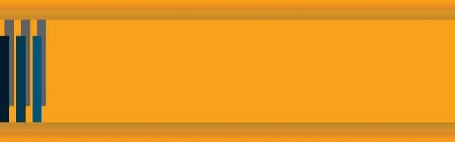blank space web banner orange yellow and navy colors vector