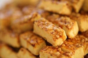 Chester agrietado, productos harinosos, panadería y horno. foto