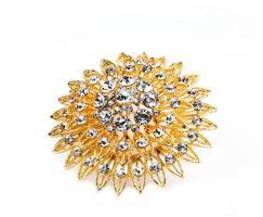 Gold jewelry with diamond photo