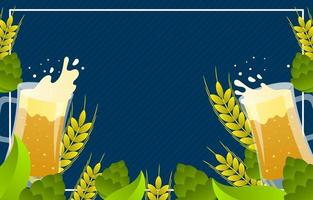 Beer Day Festivity Background vector