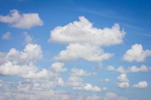 clouds in fresh blue sky photo