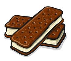 ice cream sandwiches vector