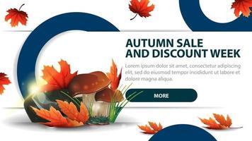 Autumn sale and discounts week, modern discount banner vector