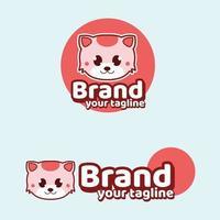 Cat Cute Brand Logo Mascots modern vector