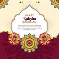 Flowery Pattern For Raksha Bandhan Festival vector