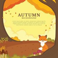 Peaceful Autumn Background vector