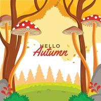 Serene Fantasy Like Environment During Autumn vector