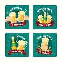 Fun Beer Day Party Card vector