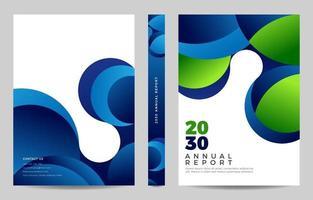 Financial Annual Report Design Template vector