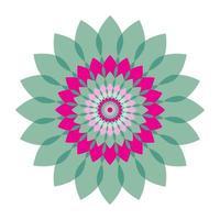 flor geométrica. Ilustración de vector de flor de círculo mandala