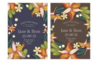 Realistic Floral Invitation Card Concept vector